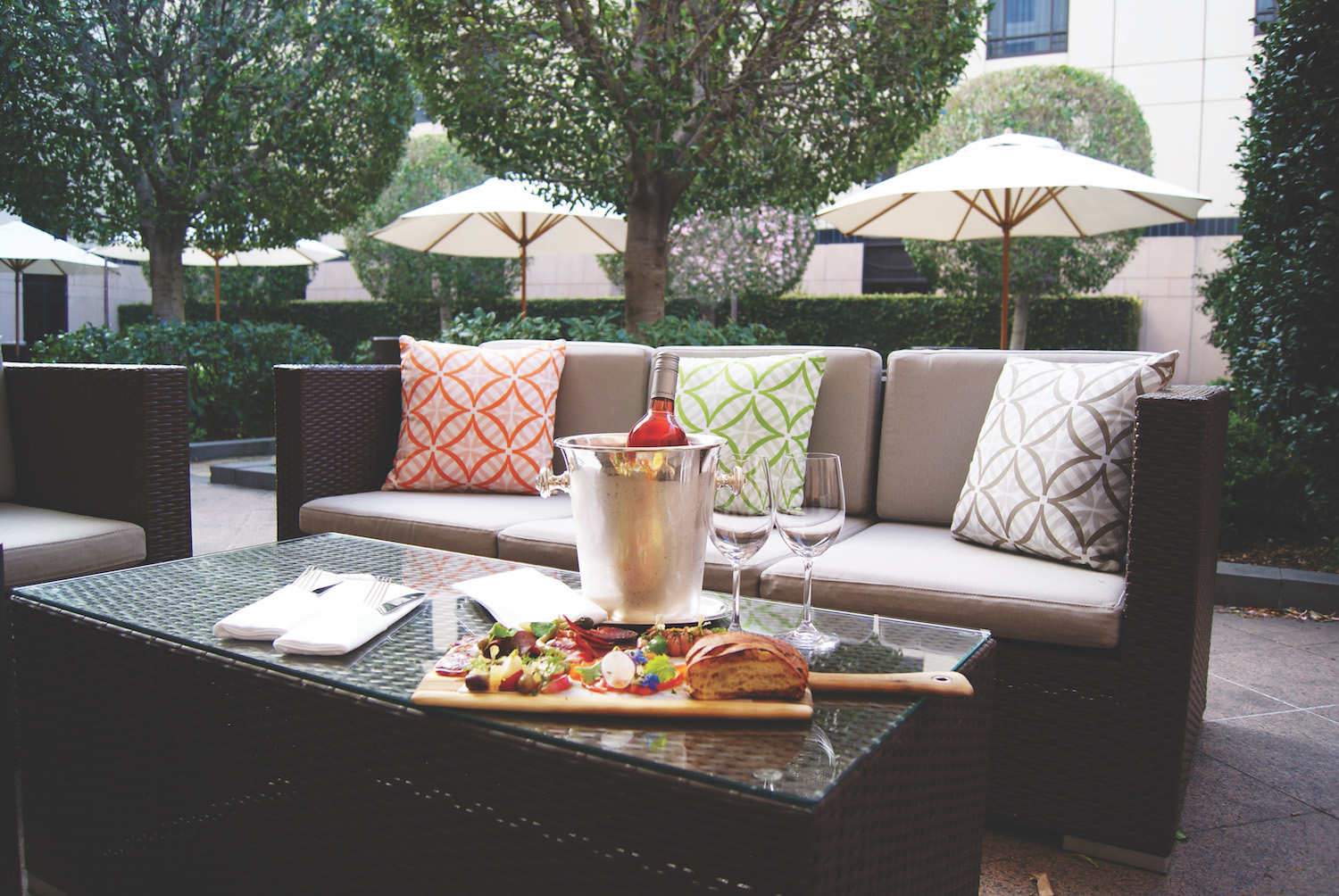 Outdoor Lounge at Park Hyatt Melbourne