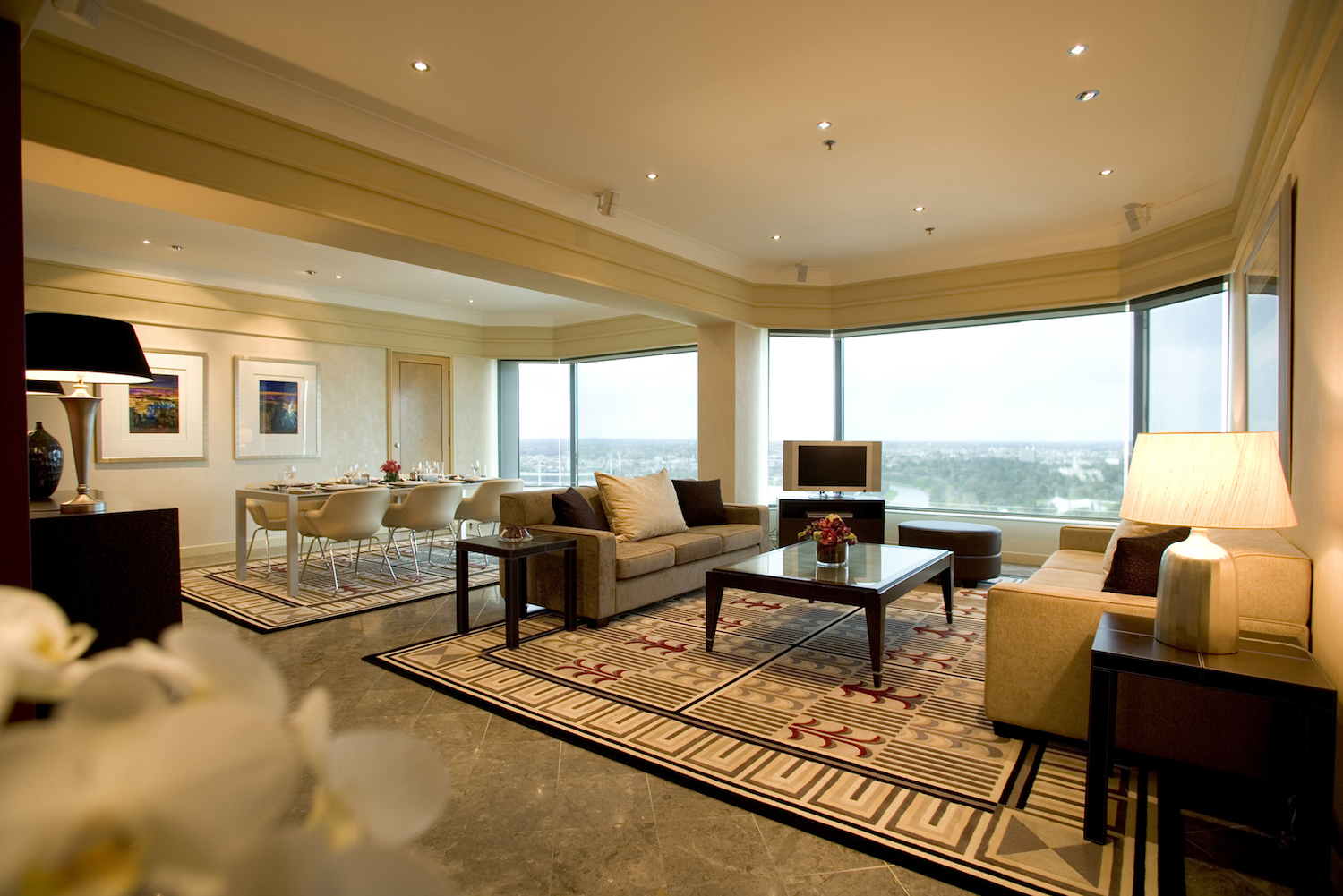 Wedding accommodation Diplomatic Suite at Grand Hyatt Melbourne