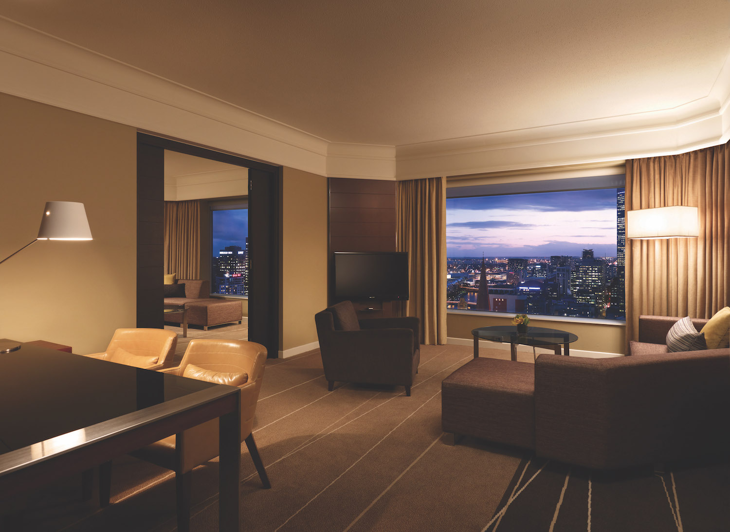City view wedding accommodation Grand Suite at Grand Hyatt Melbourne