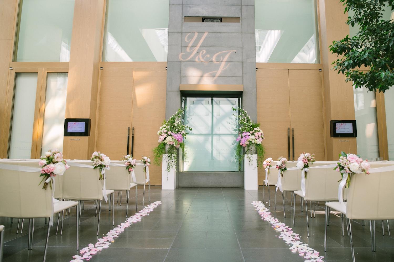 Wedding ceremony at the Residence, Grand Hyatt Melbourne