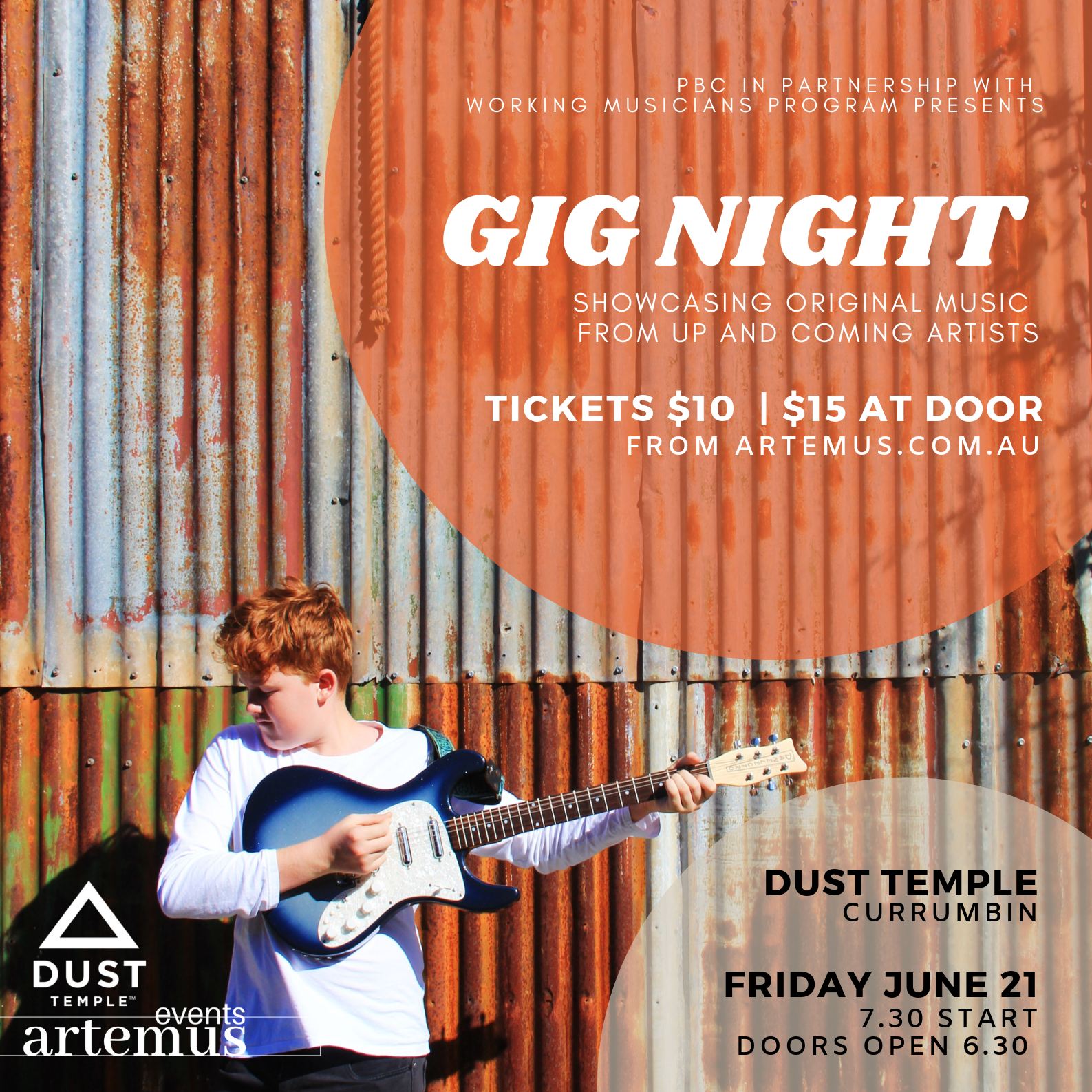 GIG NIGHT | presented by the WMP - Working Musicians Program - In partnership with pbcFRIDAY JUNE 21, 2019#liveatdustLEArn more