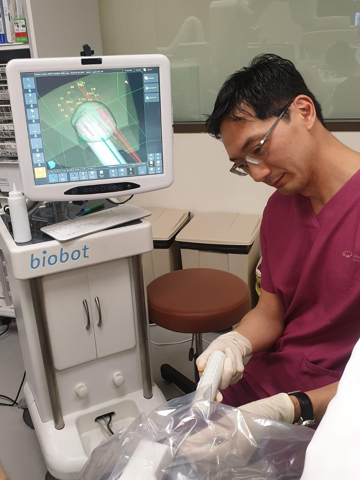 Transperineal robotic prostate biopsy