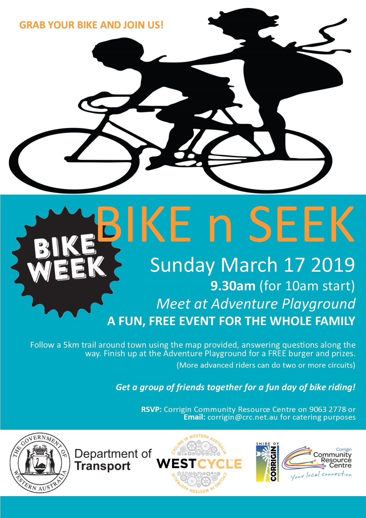 Shire of Corrigin Bikeweek Poster  Bike n Seek 2019.jpg