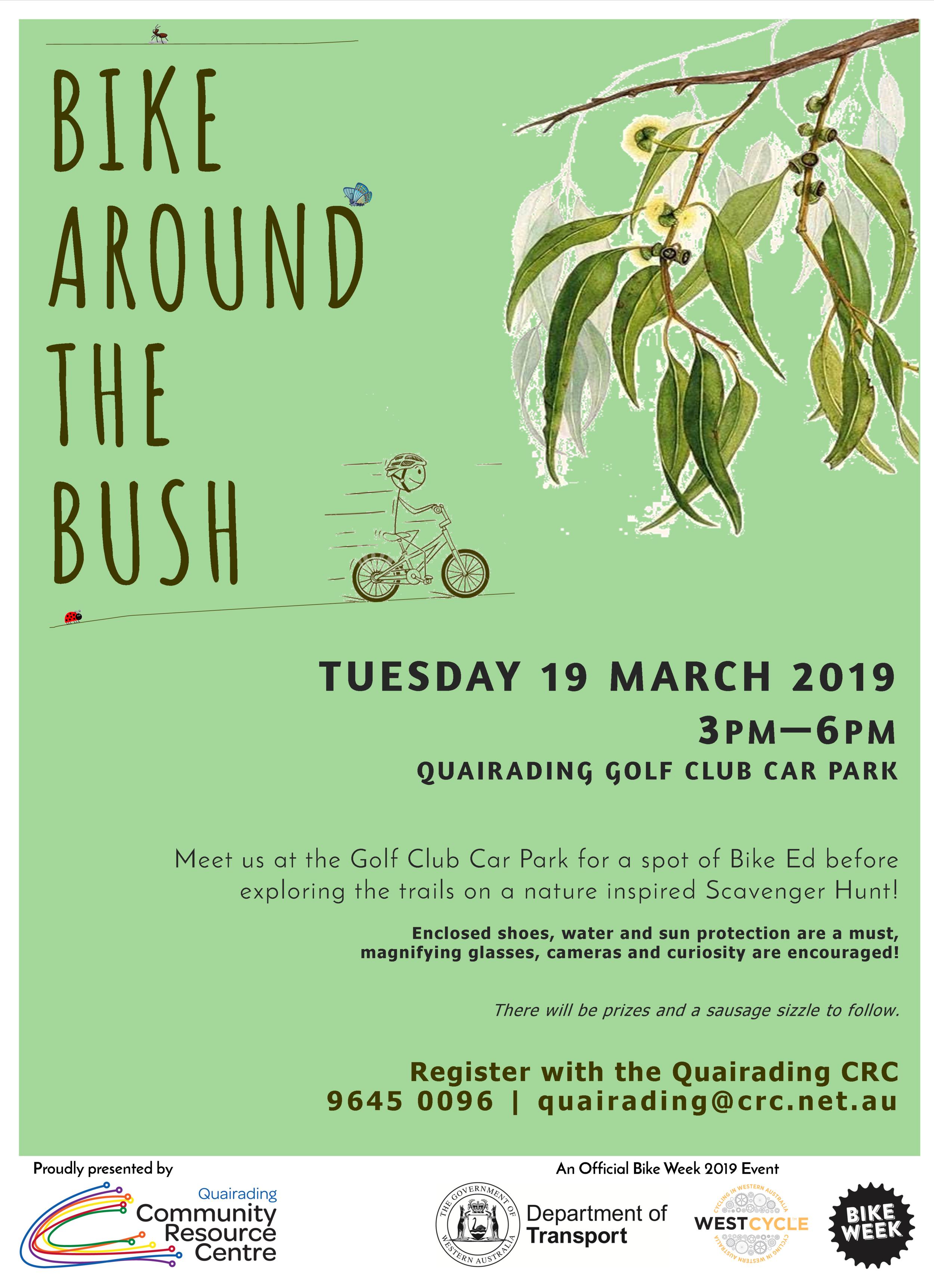 Quaraiding CRC  Bike Around The Bush Poster.png