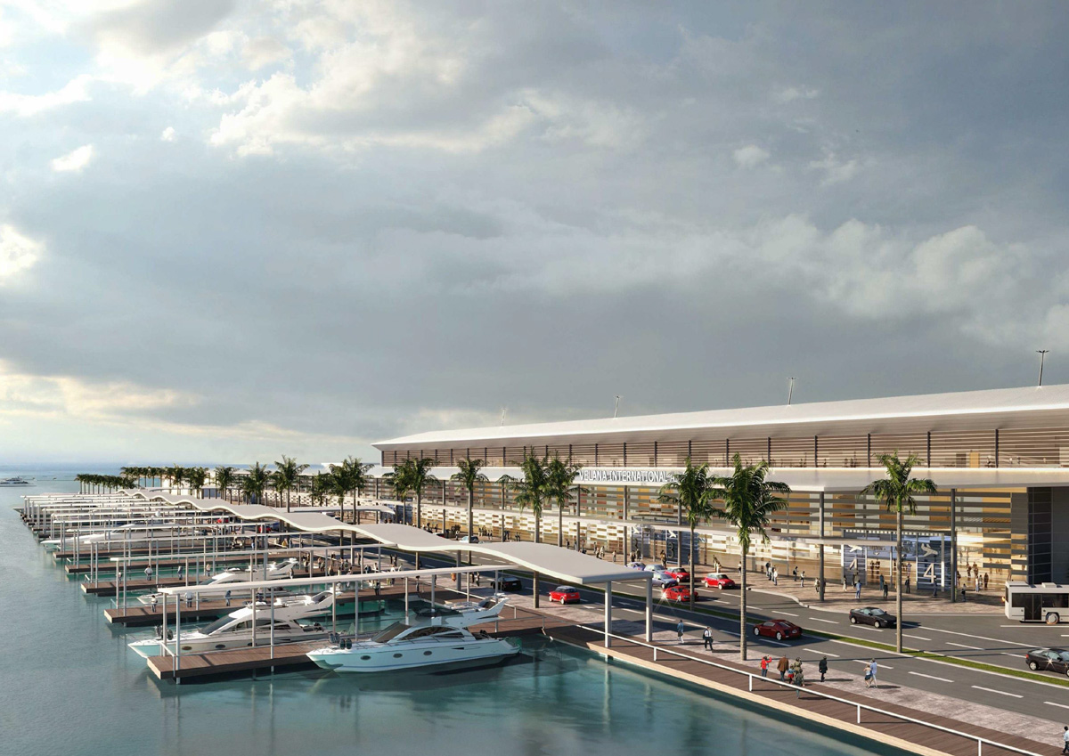 A passenger terminal that can cater to 14 international movement per hour -