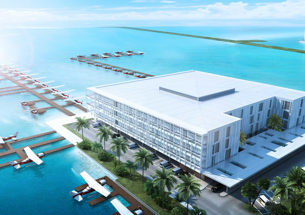 Modern seaplane terminal that can process 500 passengers per hour -