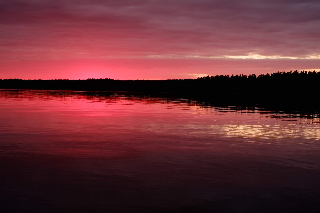 This is the happy Zen place in my mind. Be still, like a lake at sunset. Photo by me from Näsijärvi, Finland.