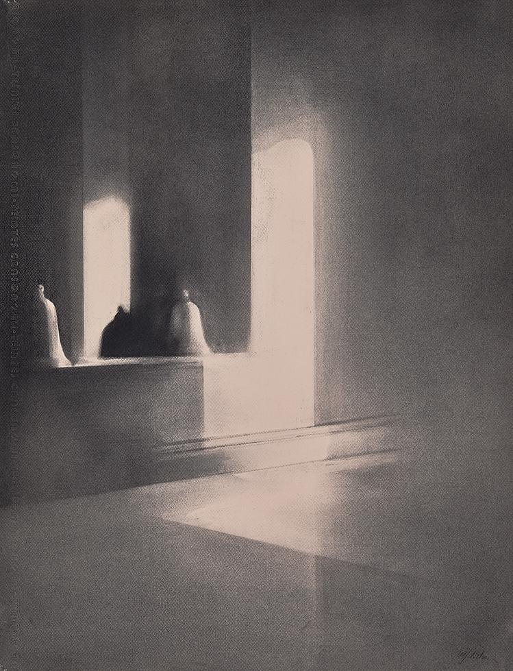 Studio Reflections Charcoal on paper, 65 x 50 cm