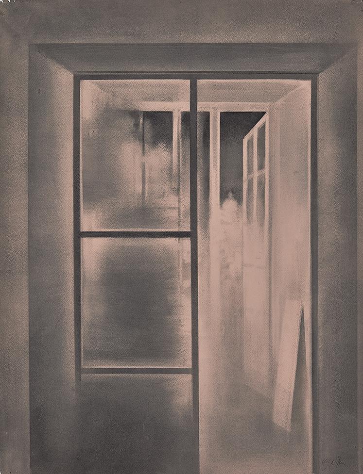 My open Door Charcoal on paper, 65 x 50 cm