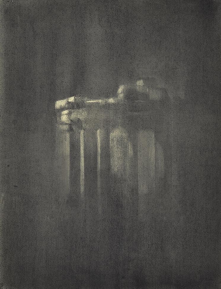 Night Rain Charcoal on paper, 65 x 50 cm