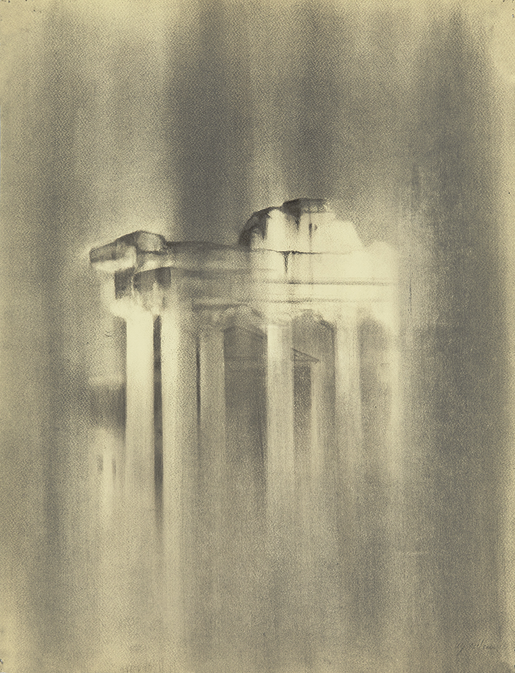 Day Rain Charcoal on paper, 65 x 50 cm
