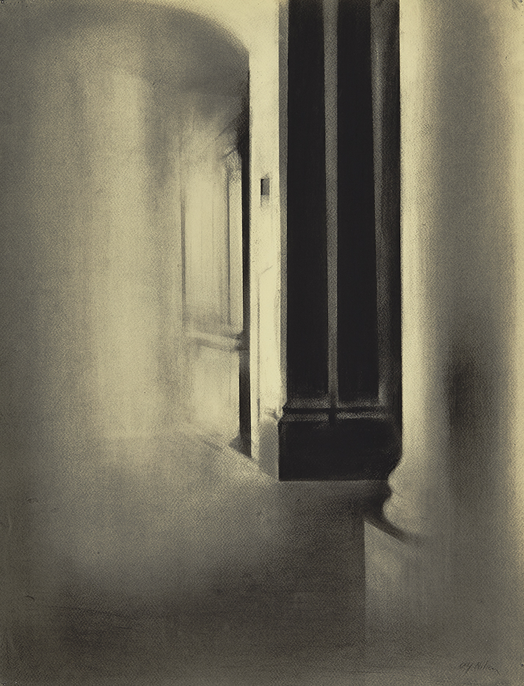Light and Dark Charcoal on paper, 65 x 50 cm