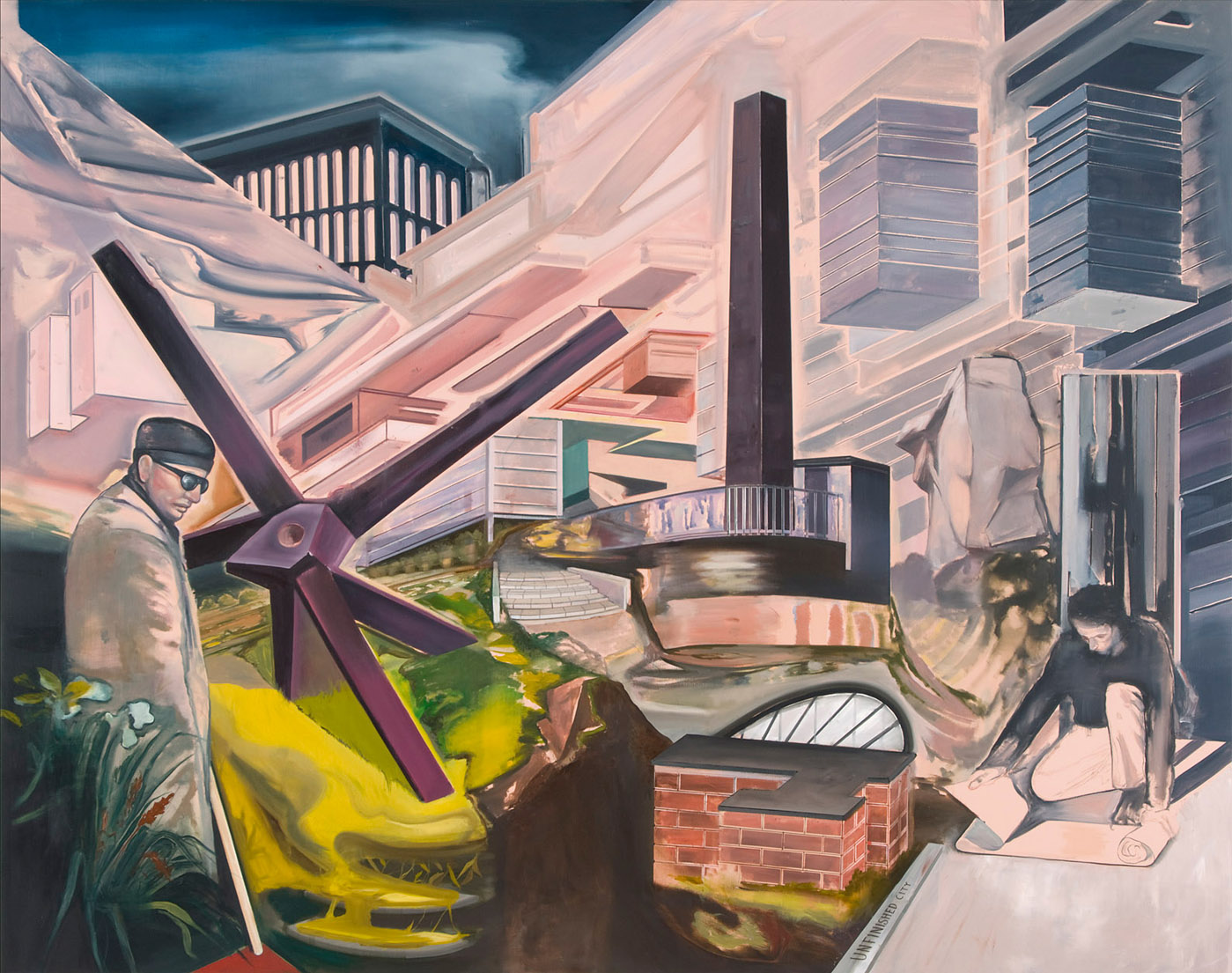 Unfinished City (The Labyrinth) , 2009, oil on canvas, 200 x 255 cm