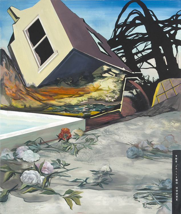 The Falling House, 2009 Oil on canvas, 200 x 170 cm