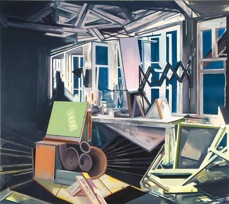 Ex Ponto, 2009 Oil on canvas, 200 x 225 cm