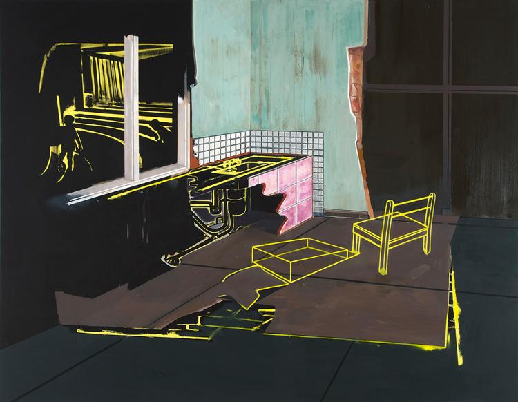 House Unfolding III, 2009 Oil on canvas, 200 x 240 cm