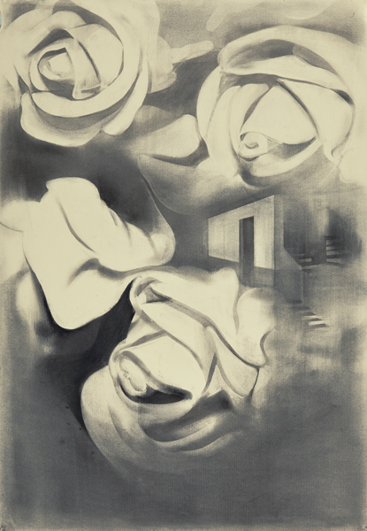 Roses after the Flood Charcoal on paper, 65 x 50 cm