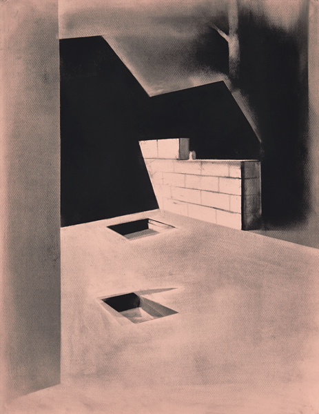 October tranquility, 2014 Charcoal on paper, 65 x 50 cm