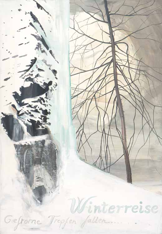 Winterreise (Gefrorne Tropfen Fallen), 2008-09, Oil on canvas, 100 x 70 cm