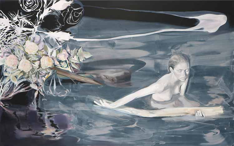 Anna (in the water where the destiny takes place) , 2008-09, Oil on canvas, 160 x 250 cm