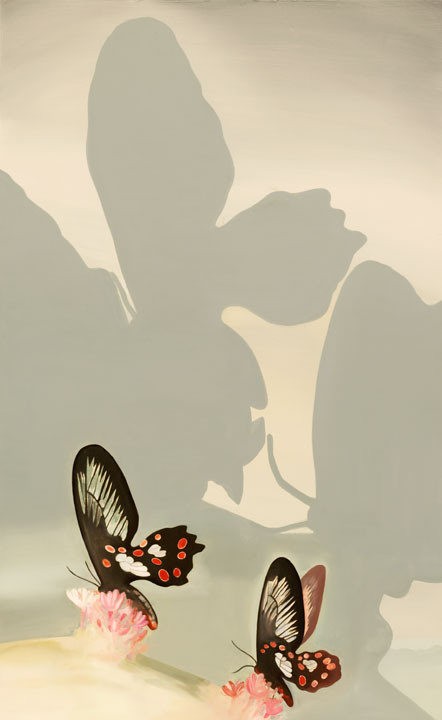 Butterfly's Kiss, 2005-06 Oil on canvas, 170 x 105 cm