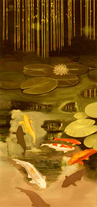 In Memory of the Poet Seisei, 2005-06 Oil on canvas, 170 x 80 cm