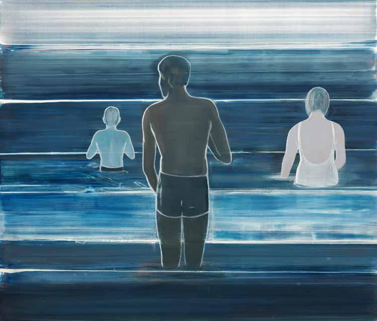 Ved stranden, 2000 Oil on canvas, 170 x 200 cm