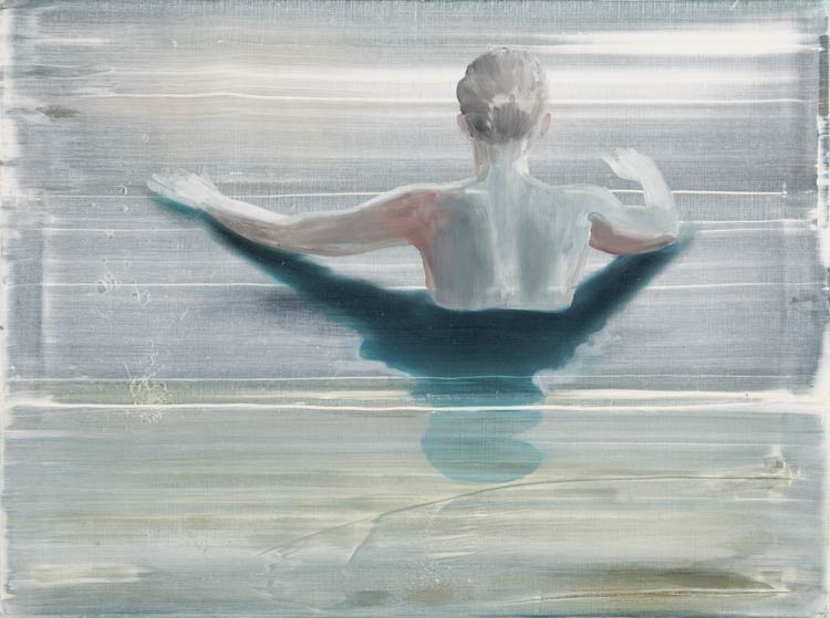 Water echo, 2002 Oil on canvas, 75 x 100 cm