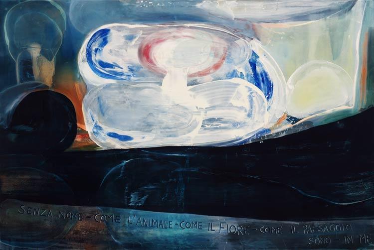 Pioggia d\'oro, 2002 Oil on canvas, 200 x 300 cm