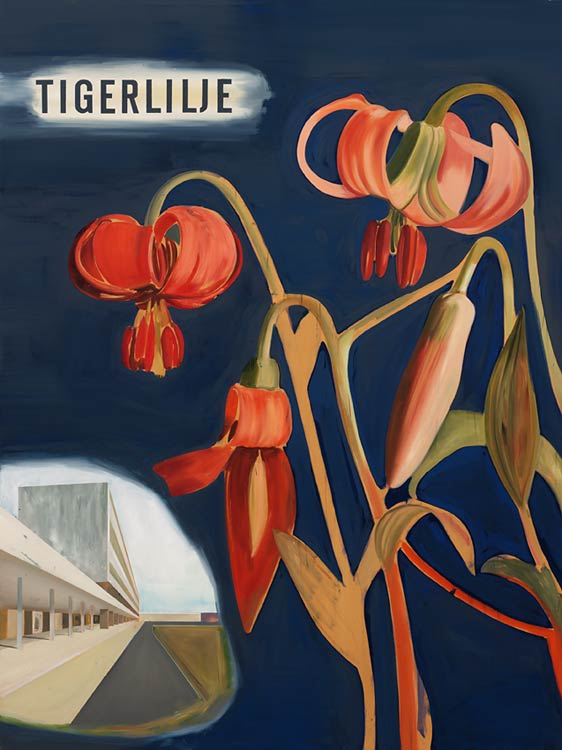 Tigerlilje, 2002-03 Oil on canvas, 200 x 150 cm
