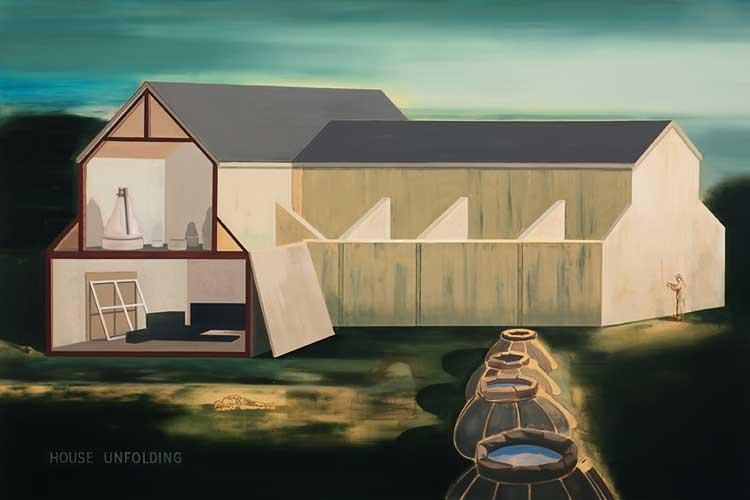 House Unfolding, 2002-03 Oil on canvas, 200 x 300 cm