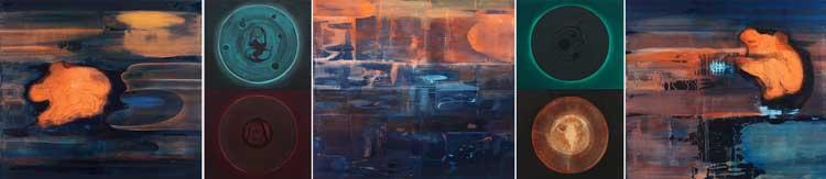 Circle Imprint, 2002-03 Oil on canvas, 200 x 915 cm