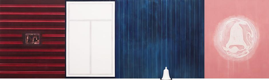 My Silent Studio, 2002-03 Oil on canvas, 170 x 590 cm