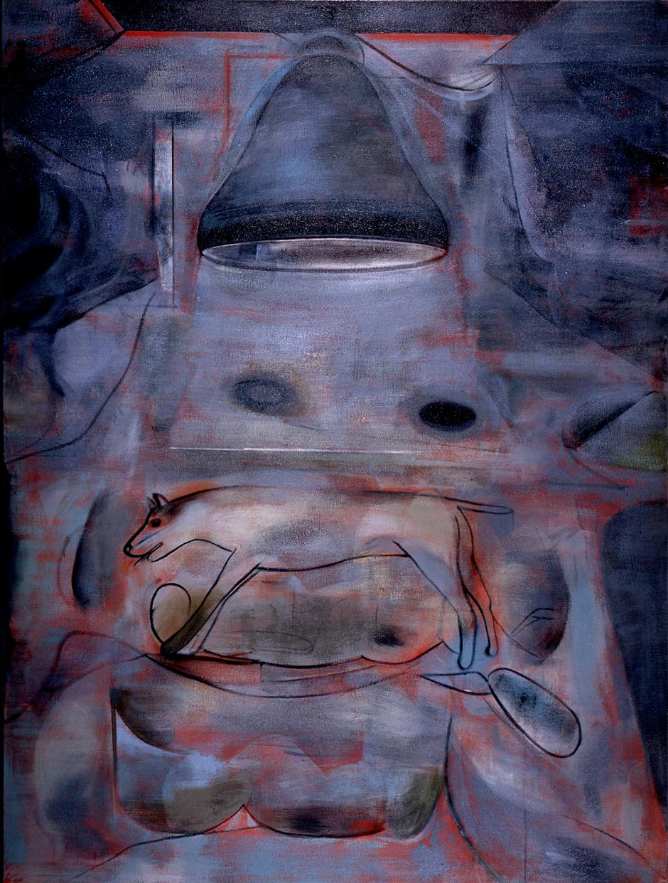 Etterklang, 1987, Oil on canvas, 200 x 150 cm