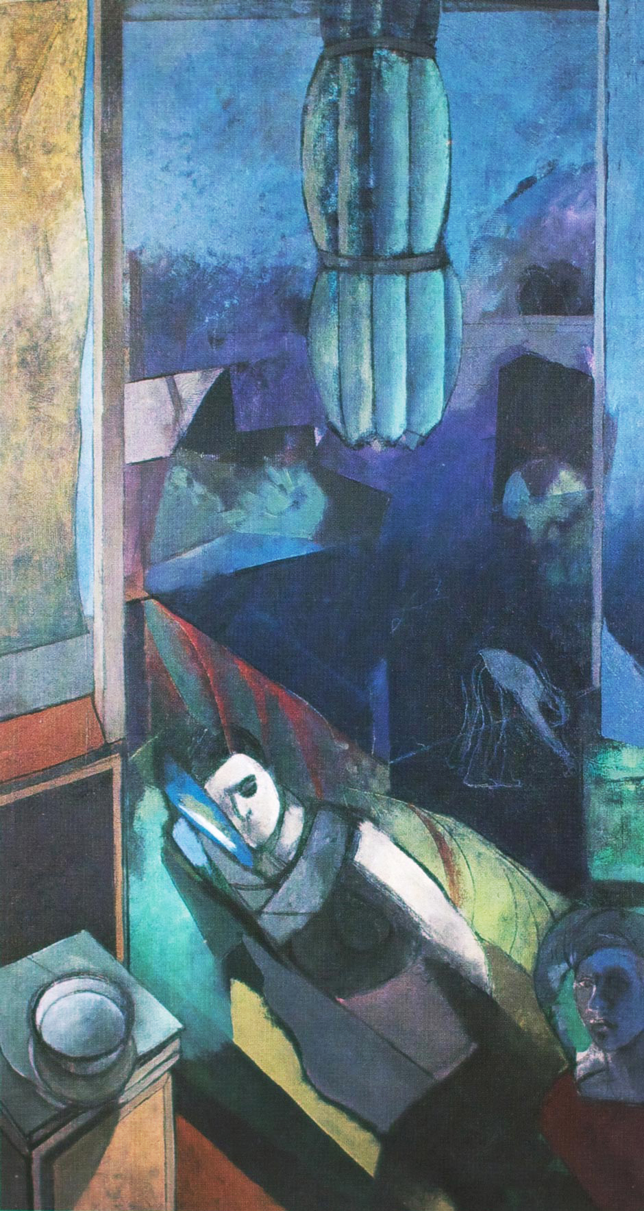 Landskap etter krig, 1978, Oil on canvas, 190 x 100 cm