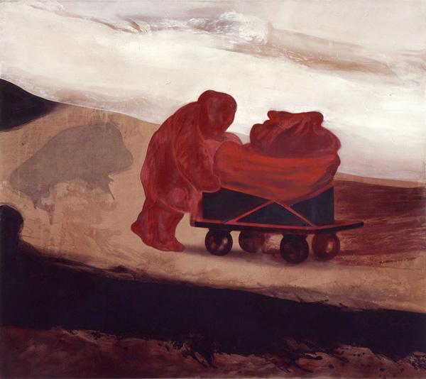 A Woman and Her Echo / En kvinne og hennes ekko, 1999 Oil on canvas, 200 - 225 cm
