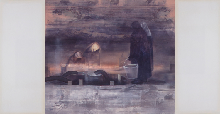 Between Night and Day  / Mellom natt og dag, 1999, oil on canvas, 202 x 387 cm