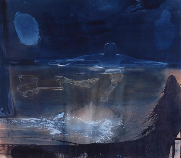 Fortid/Nåtid, 1998 Oil on canvas, 200 x 225 cm