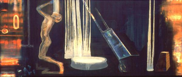 Mellom nord og øst , 1996-97, oil on canvas, 170 x 400 cm