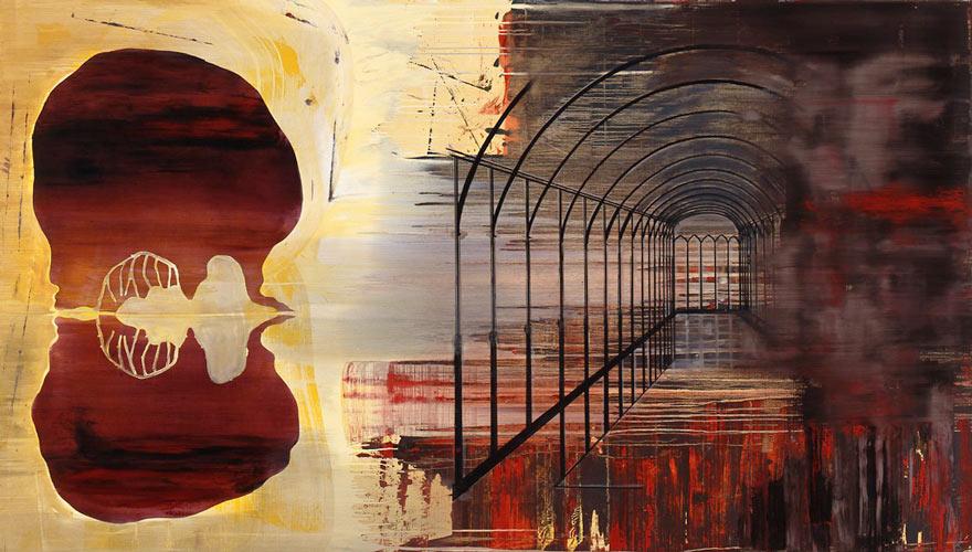 Innskrift, 1996-97 Oil on canvas, 170 x 300 cm