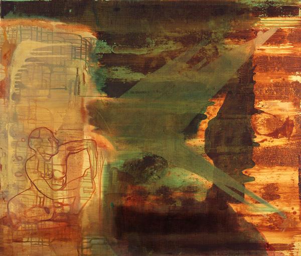 Skyggens språk, 1996-97 Oil on canvas, 170 x 200 cm