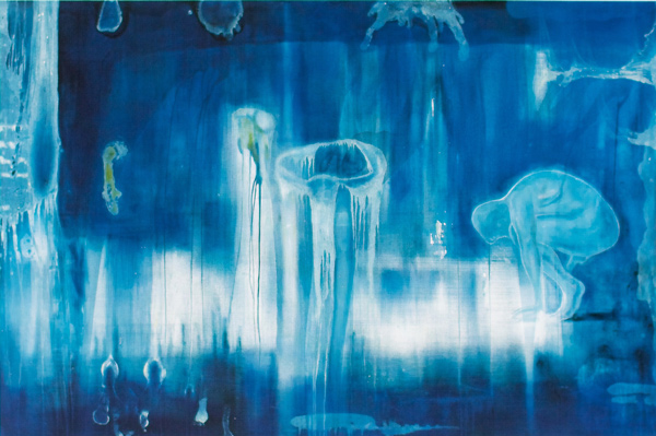 Implosjon, 1997, Rogaland Kunstmuseum Oil on canvas, 200 x 300 cm