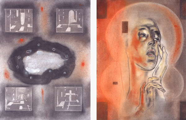 Historien, 1996-97 Oil on canvas, 63 x 48 cm x 2