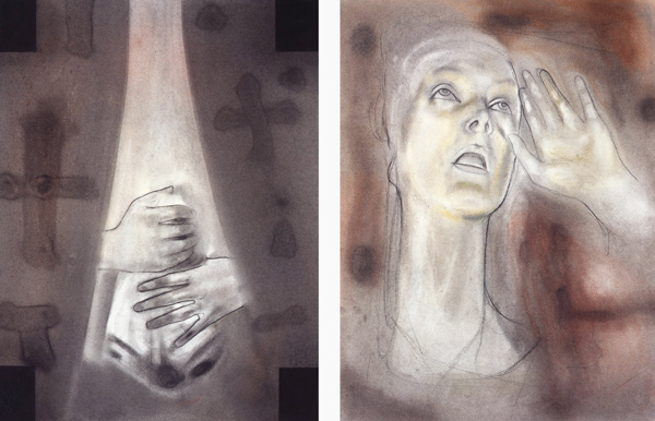 Stabat mater, 1996-97 Oil on canvas, 63 x 48 cm x 2