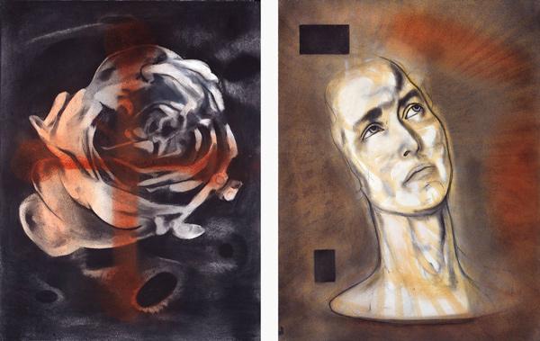 Rosen, 1996-97 Oil on canvas, 63 x 48 cm x 2