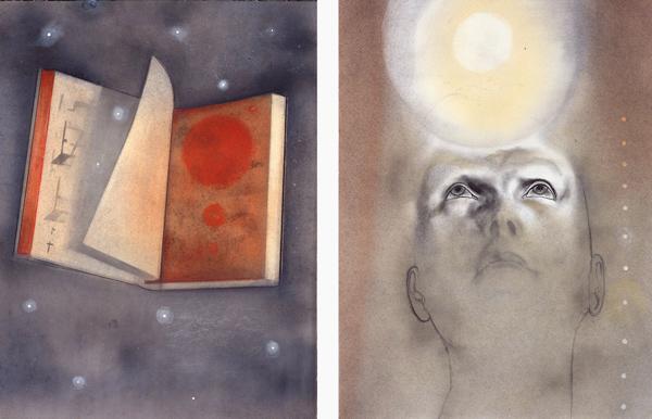 Skriften, 1996-97 Oil on canvas, 63 x 48 cm x 2