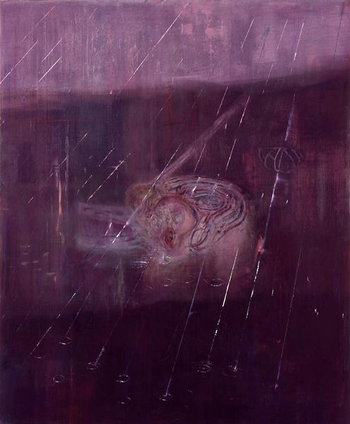 Vannelegi, 1993 Oil on canvas, 170 x 40 cm