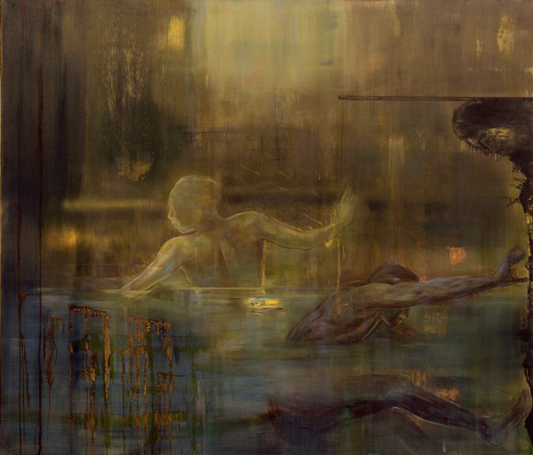 Dykkerne , 1993-94, oil on canvas, 170 x 200 cm