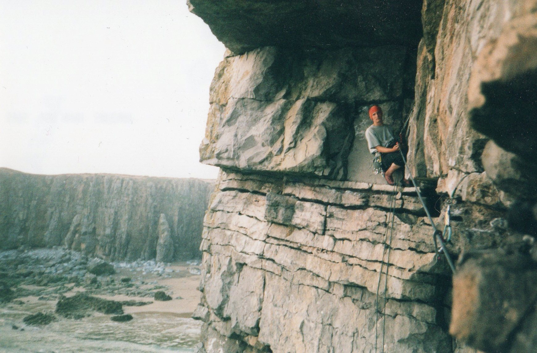 Climbing in my teens.