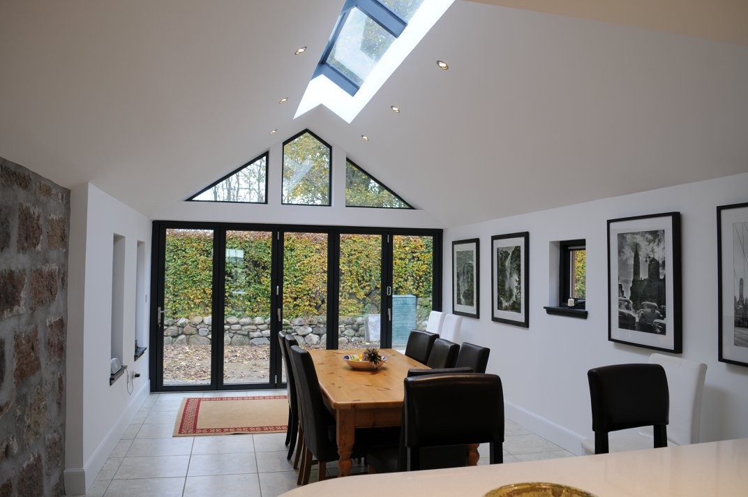 inside view of dining area extensio completed